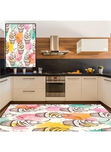 Halı Küp Kekli Modern Mutfak Halıları 80X150Cm Renkli